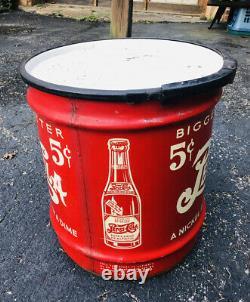 Vintage Rare Pepsi Cola 5 Cent Double Dot 10 Gallon Soda Syrup Can