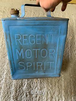 Vintage Rare Regent 2 Gallon Petrol Can Oil Automobilia Old