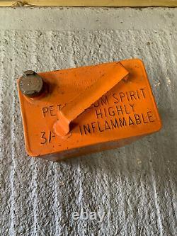 Vintage Rare Scottish Oil 2 Gallon Petrol Can Oil Automobilia Old