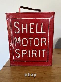 Vintage Rare Shell Lip Top 2 Gallon Petrol Can(With Smaller Cap)