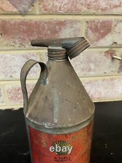 Vintage Rare Shell Pennant Oil Can Petrol Garagenalia Garage Shed Tool Car