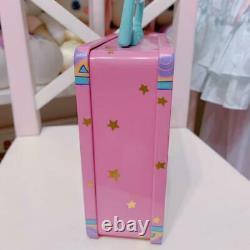 Vintage Retro Sanrio Rare Merry-Go-Round Can Case Box Pink Square Good Used