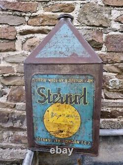 Vintage STERNOL OIL 5 Gallon Pyramid Can Automobilia Motoring Collectable Rare