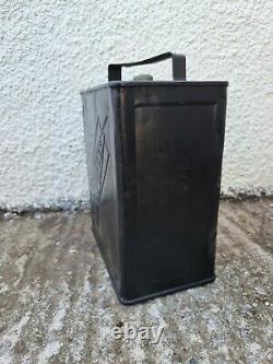 Vintage SUPEREX Motor Spirit 2 Gallon Can Automobilia Collectable Oil Fuel RARE