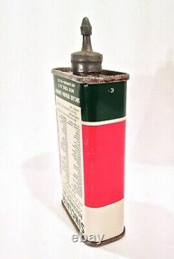 Vintage Sinclair Lead Top Advertising Handy Oiler Oil Can Sign Upside Down RARE