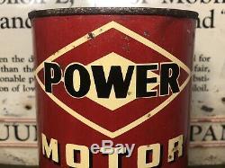 Vtg DX POWER Motor Oil 1 Quart Oil Can Tin DX Sunray Oil Co. Tulsa Oklahoma Rare