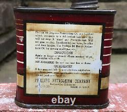 Vtg PHIlLIPS 66 Penetrating Oil 4oz Lead Top Oiler Can Tin Oil Can Short Rare
