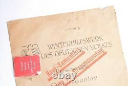 WW2 German Winterhilfswerke Donation Can and list of donors. RARE! SET